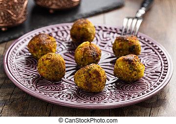 couscous balls - Homemade couscous and vegetable balls...