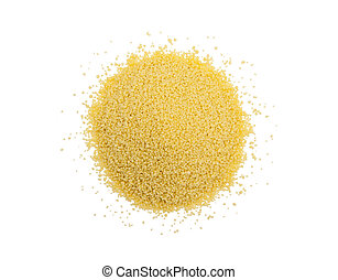 Couscous isolated on the white background