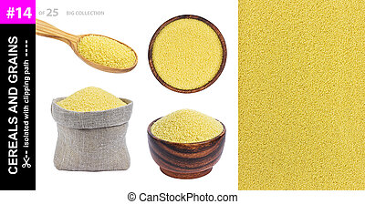 Couscous isolated on white background