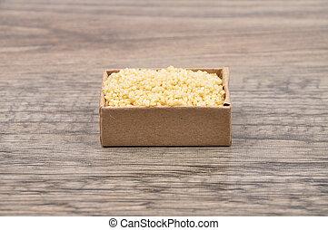 Couscous on wood