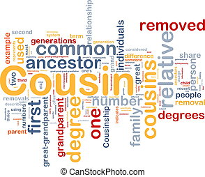 cousin, concept, fond