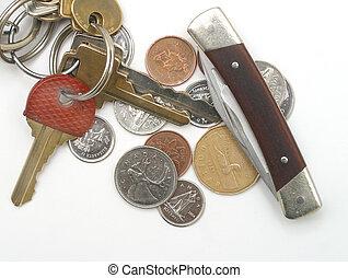 couteau, clés
