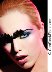Couture Beauty - Model with artistic makeup.