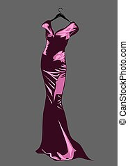 couture dress - abstrack background with couture dress. 10...