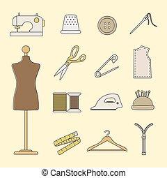 couture, ensemble, icônes