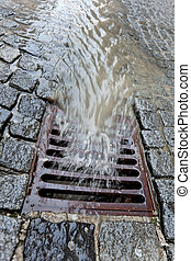 couvercle, rainwater, canal