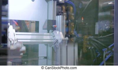 couvercles, plastique, robotique, couvertures, succion, automatique, manipulateur, tasses, bras, mouvements