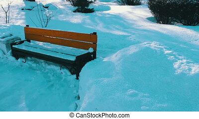couvert, park., neige, walkway