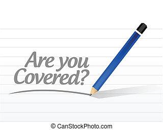 couvert, vous, conception, message, illustration