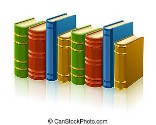 couverture, différent, livres, groupe, vide