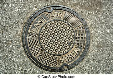 couverture, manhole