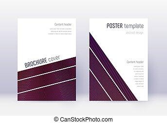 couverture, violet, set., abstra, gabarit, conception ...