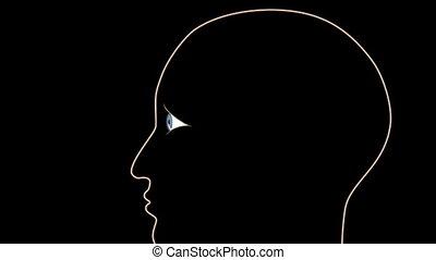 couvrir, cataracte, lentille, processus