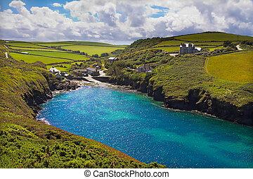 Cove at Port Quin, Cornwall, UK