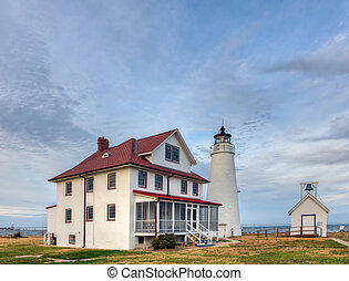 Cove Point Lighthouse on the Chesapeake Bay