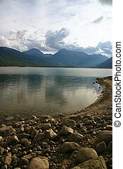 Cove Reflections - Reflections of mountains and clouds in...