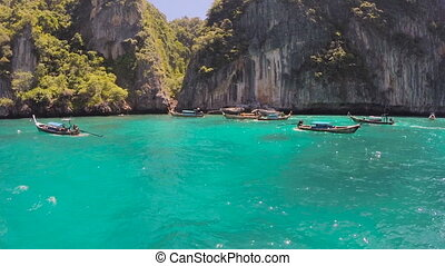 Cove With Boats on Tropical Islands