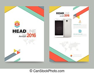 Cover annual report template - Cover annual report Leaflet...