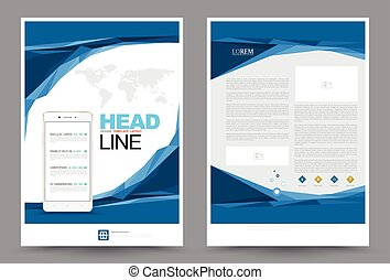 annual report cover a4 sheet and presentation template. vector, Presentation templates