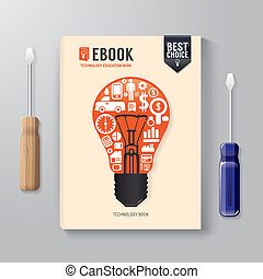 Cover Book Digital Design Template Technology Concept/ can be us
