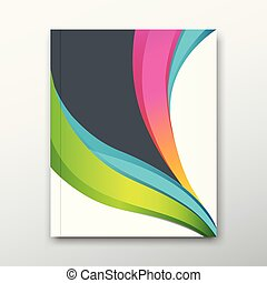 Cover book report name paper colorful curve design