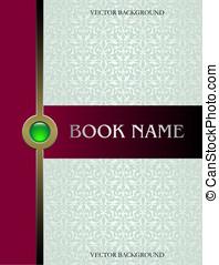 Cover book vector