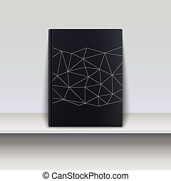 Cover book with techno pattern