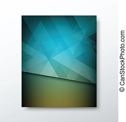 Cover brochure abstract triangle
