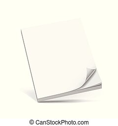 Cover Business white book isolated on white