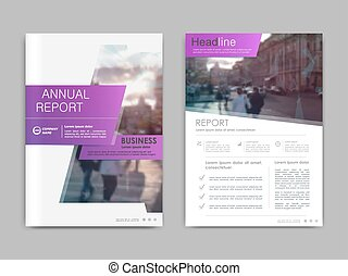 Cover design annual report, vector template brochures, ...