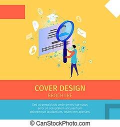 Cover Design Brochure Square Banner, Copy Space.