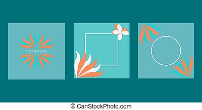 Cover design for greeting cards, greeting card designs with a cute and unique blue color combination, vector illustration