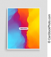 Cover design template. Abstract background. Modern Pattern. Vector Illustration.