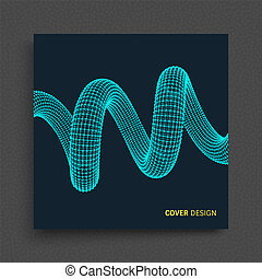 Cover design template. Spiral. Connection Structure....