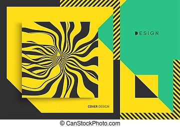 Cover design template. Vector illustration. Pattern can be...