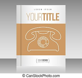 Cover design vector template, minimal style