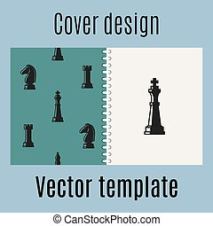 Cover design with chess pattern