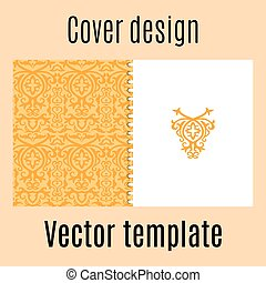 Cover design with colored arabic pattern