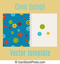 Cover design with colorful buttons pattern