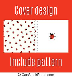 Cover design with ladybug pattern