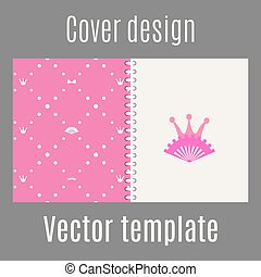 Cover design with pink princess pattern