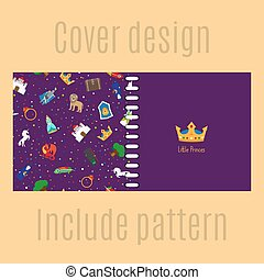 Cover design with princess pattern