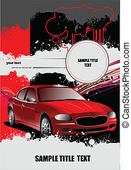 Cover for brochure with car images