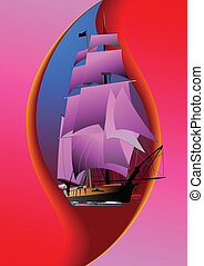 Cover for brochure with old sailin