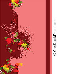 Cover for brochure with red floral background