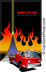 Cover for brochure with zipper fire image. Vector illustration