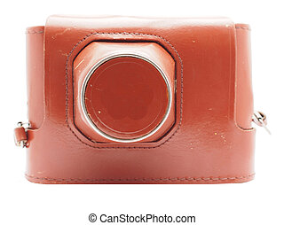Cover for the camera on a white background