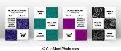 cover., gentil, template., résumé, suminagashi, conception