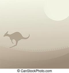 Cover kangaroo - Creative design of cover kangaroo