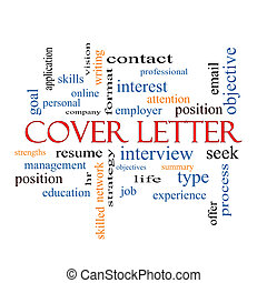 Cover Letter Word Cloud Concept with great terms such as...